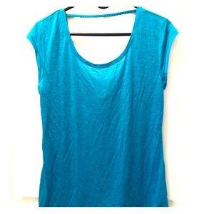 Arie bright blue top